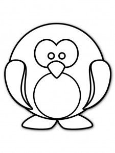 baby penguin coloring page free printable coloring pages
