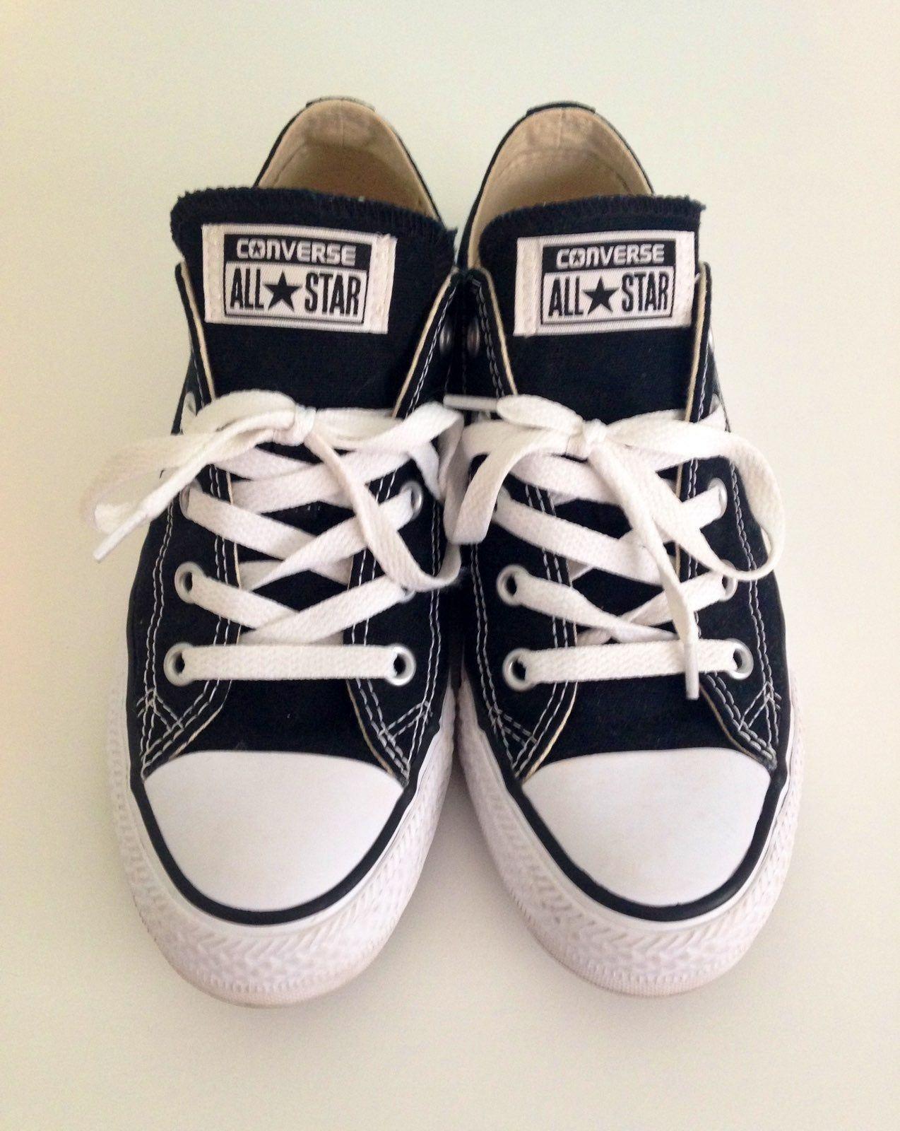 Black converse shoes, women's size 6