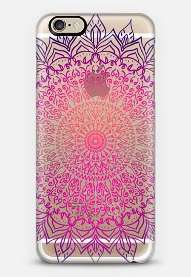 HAPPY BOHO MANDALA - CRYSTAL CLEAR PHONE CASE iPhone 6s case by Nika Martinez | Casetify