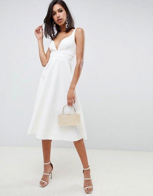 e80ae1c7e6c ASOS DESIGN Sweetheart neck midi prom dress