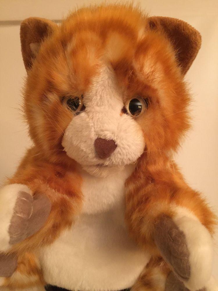 Folkmanis Tabby Kitten Hand Puppet, Soft Orange Kitty Cat