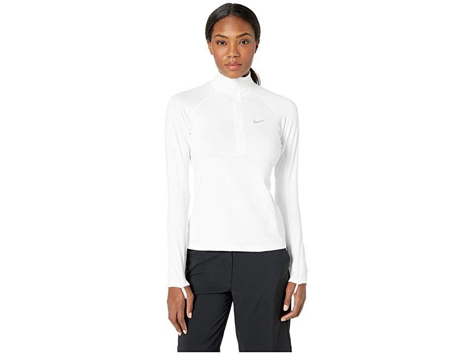 Nike Pro Warm 1/2 Zip (White/Wolf Grey