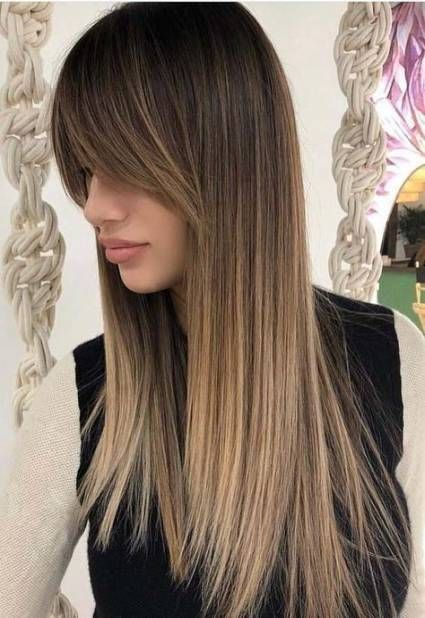 38 Trendy Haircut Women Long Straight Bangs Long Hair With Bangs Haircuts For Long Hair Long Straight Hair