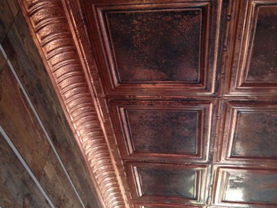 coffer suspended acoustical in tiles armstrong htm tile fasade polished copper vision ceiling