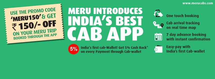 Merucabs taxi booking rs150 off 5 off with images