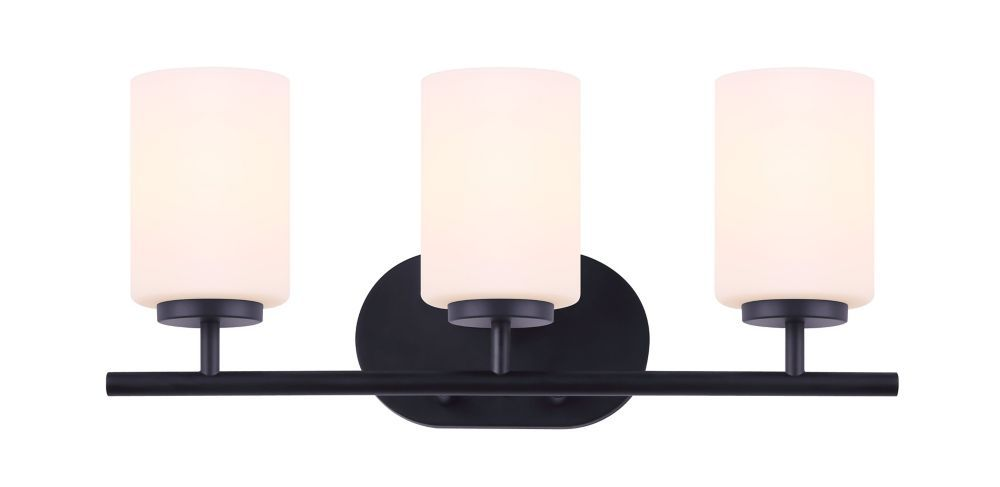 The Home Decorators Collection Tatum Vanity Light Series Features A Stylish Matte Black Finish This T Vanity Light Fixtures Vanity Light Shade Vanity Lighting