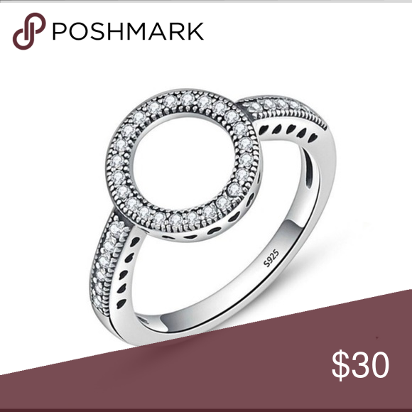 925 Argent Sterling Pave Zircone cubique Amour Noeud Cocktail Ring