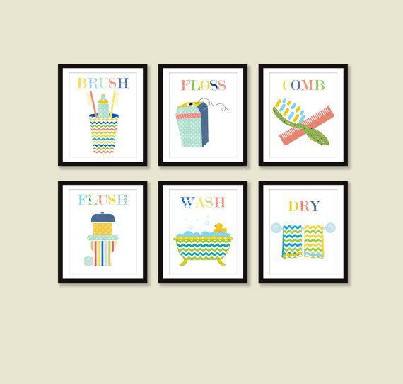 Kids Bathroom Decor Bathroom Art Bathroom Rules Children Prints By Little Monde