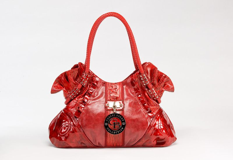 Y Cherry Berry Red Vegan Leather Handbag