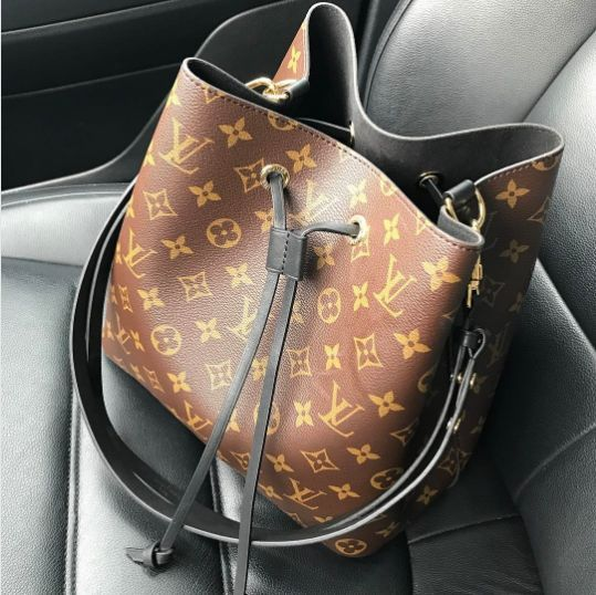 e25e68843411 Louis Vuitton Noir Monogram Canvas Neonoe Bag 2