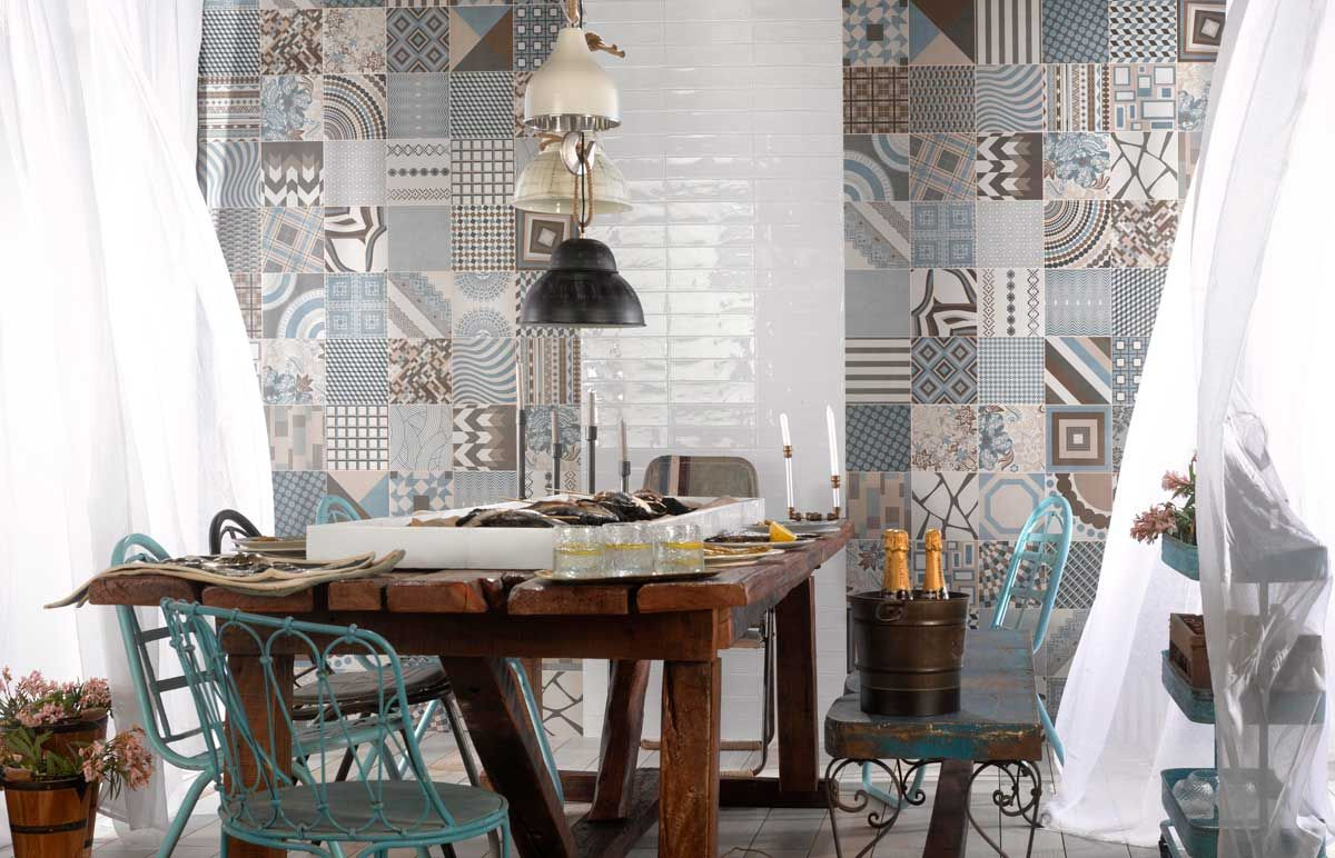 Patterned patchwork wall and floor tiles from spain kalafrana patterned patchwork wall and floor tiles from spain kalafrana ceramics sydney tile showroom dailygadgetfo Images