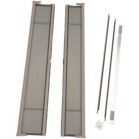ODL Brisa Tall Double Door Single Pack Retractable Screen For 96 Inch  In Swing Or Out Swing Doors, Sandstone, Beige