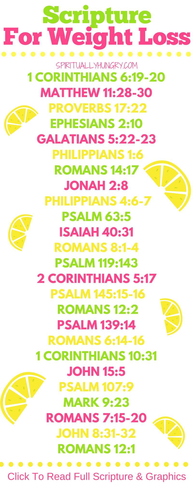 For Weight Loss Scripture for weight loss is an essential tool for success in your diet. Scripture can always help equip us for lasting change. If you are dieting or seeking a healthy lifestyle, these 25 scriptures for weight loss are for you!Scripture for weight loss is an essential tool for success in your diet. Scripture can always help equip us...