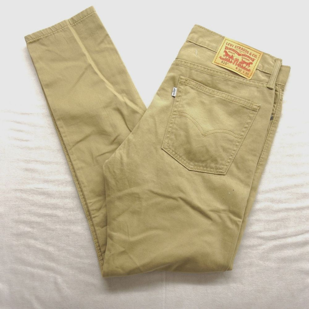 0028 Brown Levi's Denim 510 Fit Khaki Jeans Mens Skinny New Slim rdQCthBsox