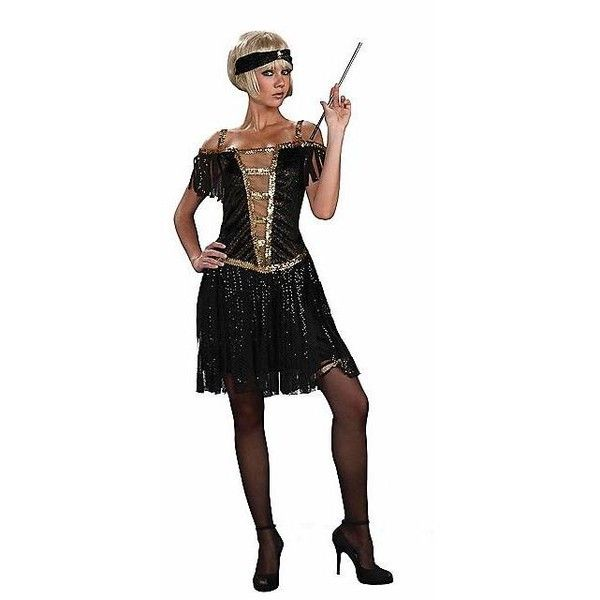 browse sexy womens costumes at candy apple costumes like this golden glamour flapper dress in black