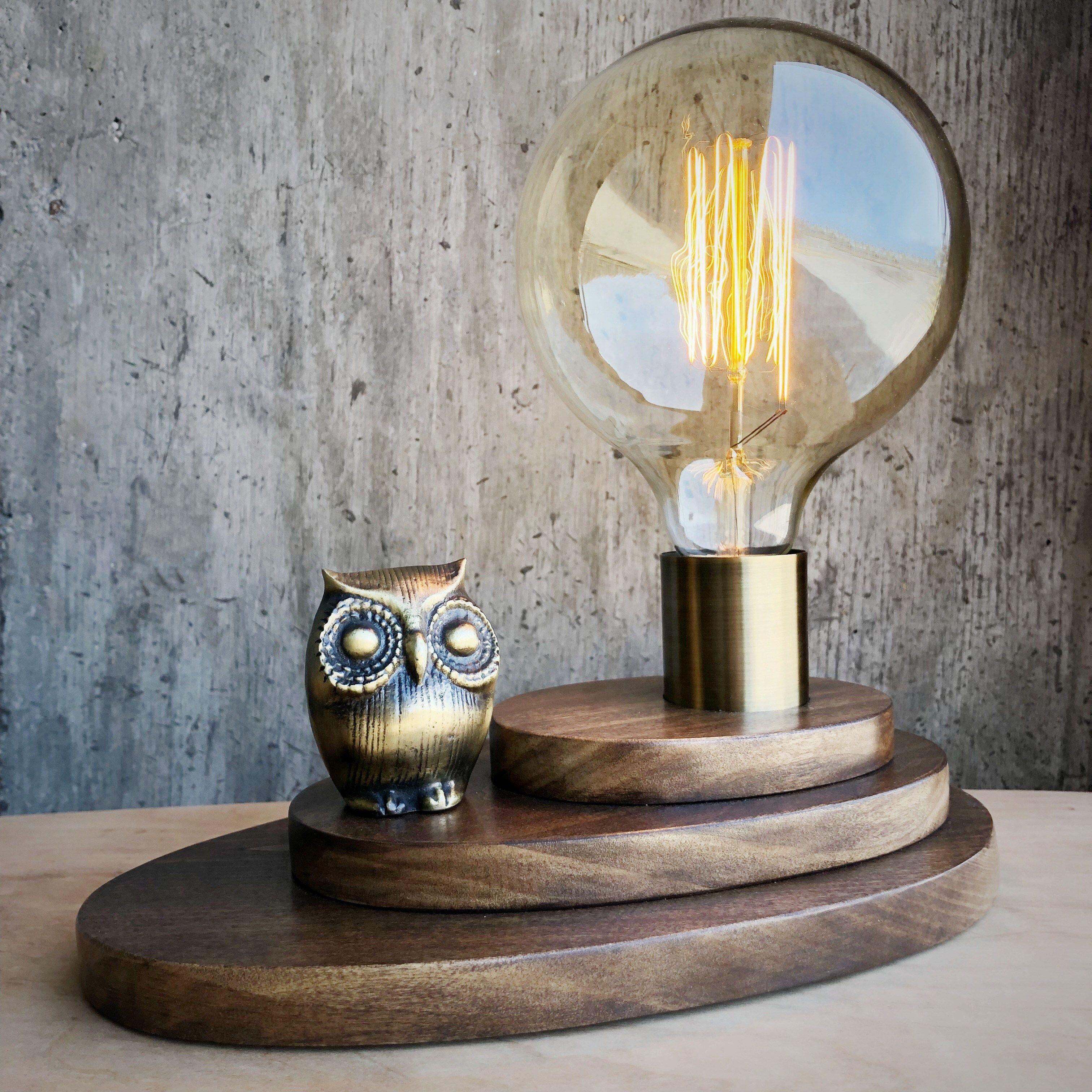 Atomic Owl Lamp Owl Lamp Lamp Edison Light Bulbs