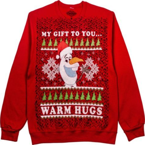 Adult Olaf Christmas Sweatshirt Frozen Party City Christmas