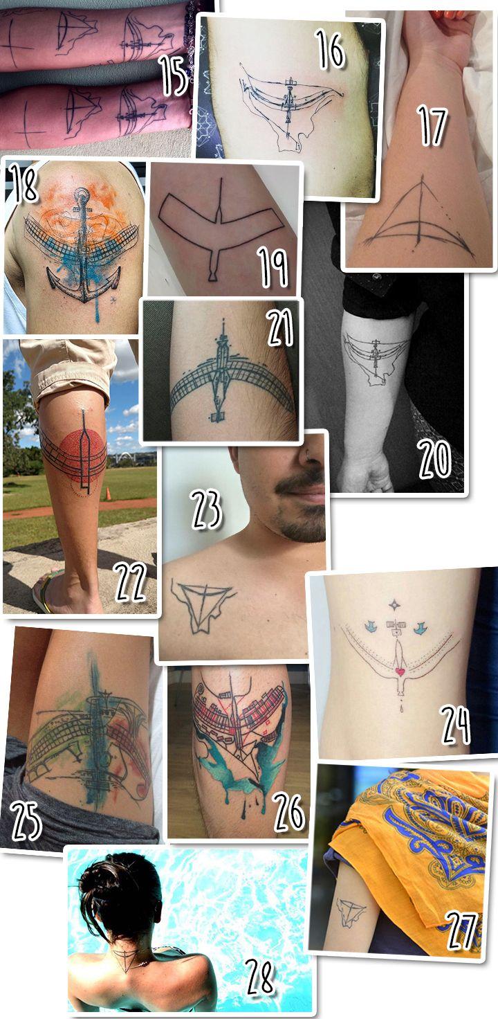Brasília para sempre. Confira 56 tatuagens que homenageiam a cidade aniversariante