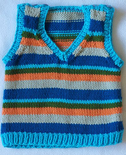 Baby's Banded Sweater Vest pattern by Lisa K. Ross | Baby ...