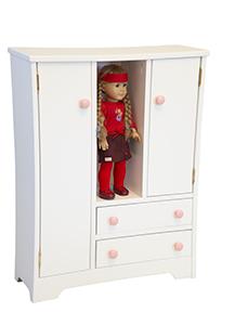 Wooden Deluxe Doll Wardrobe for American Girl Doll | Doll wardrobe ...
