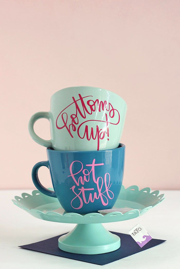 How To Diy Personalized Mugs And Tea Cups Crafts Diy