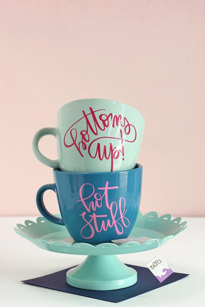 How To Diy Personalized Mugs And Tea Cups Diy Christmas Mugs Coffee Cups Diy Diy Cups