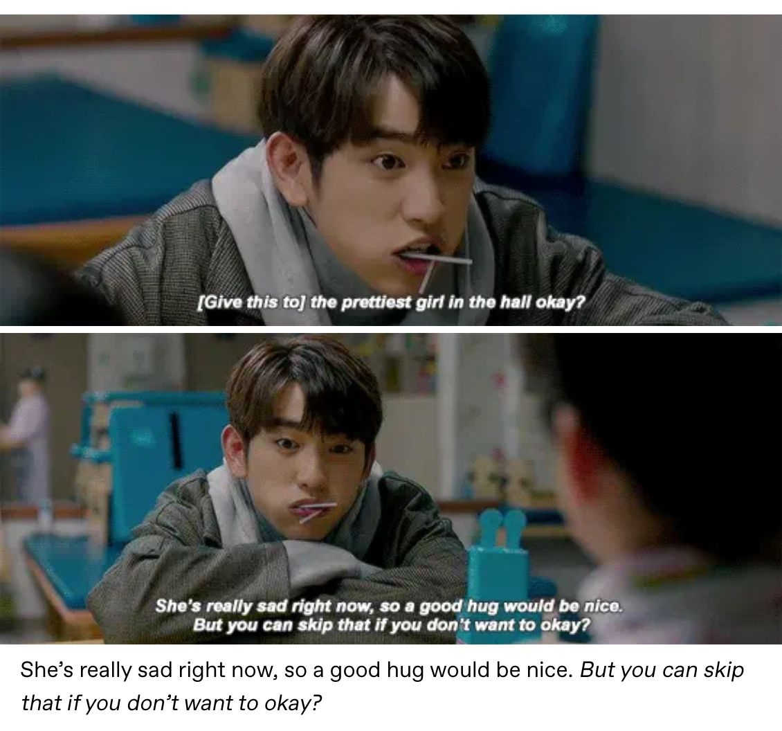 He is psychometric kdrama 2019 Jinyoung telling kids to give