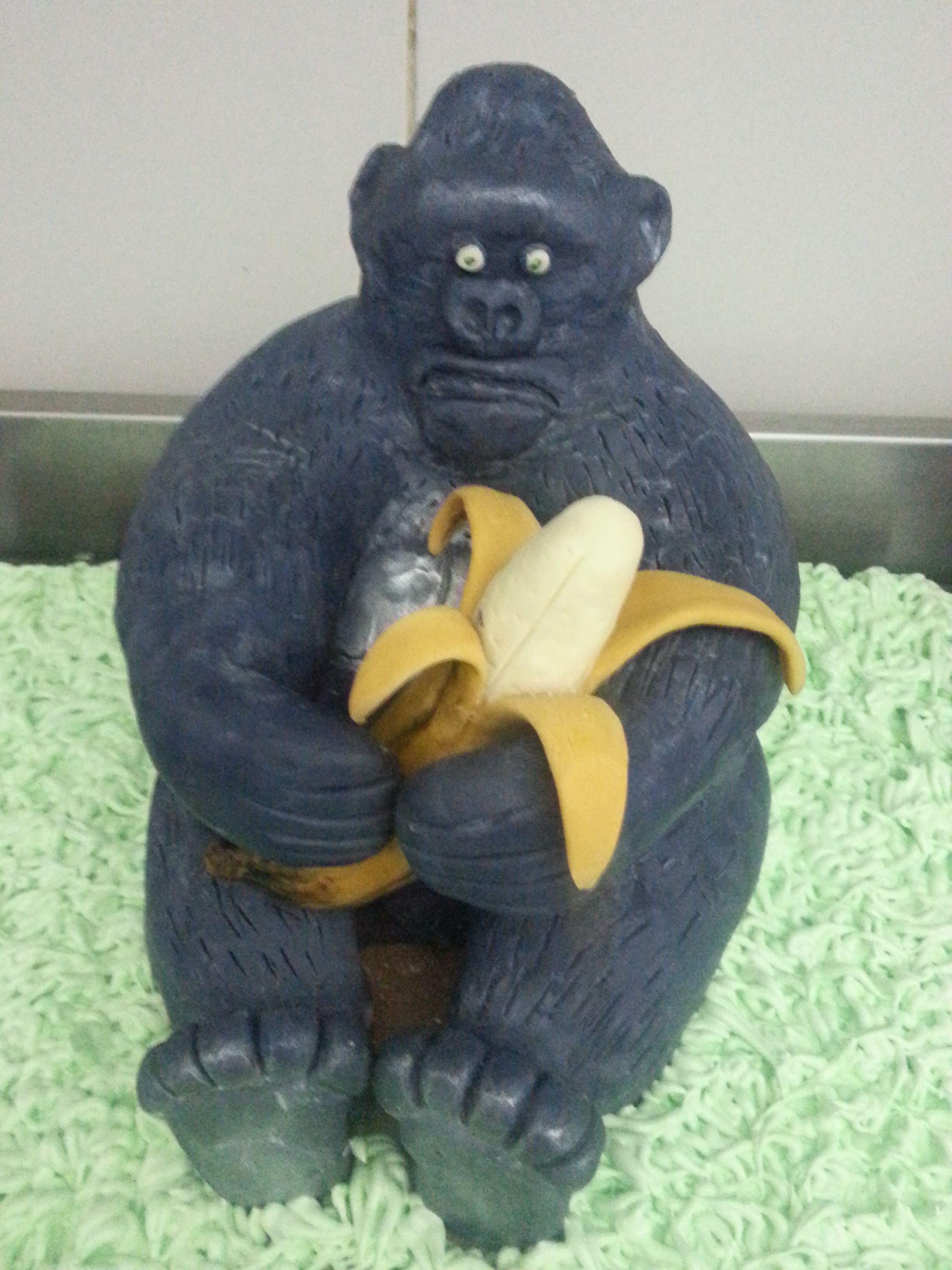 #Gorilla #Banana #Jungle #Cake #Fun #Funny #Tropical #Delicious #Custom #Cakes #Suite101 #Tribe