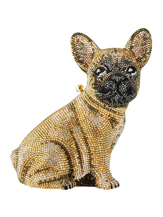 French Bulldog Crystal Clutch