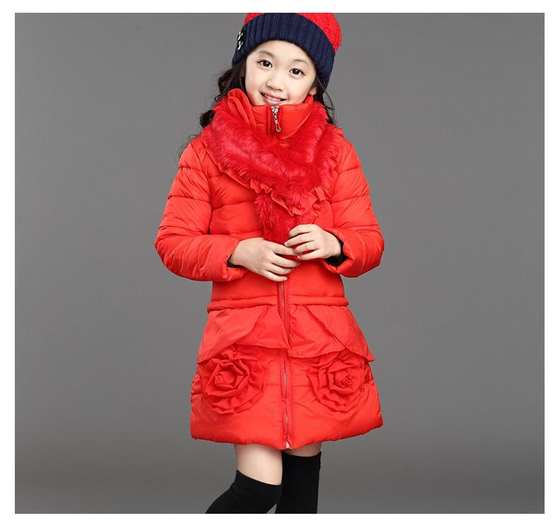 44.00$  Buy now - http://aliozm.worldwells.pw/go.php?t=32586651135 - 2015 New Fashion Clothing Fur Collar Zipper Duck Down Coat Kids Winter Jacket Girls Coats Outwear For Children H5549 44.00$