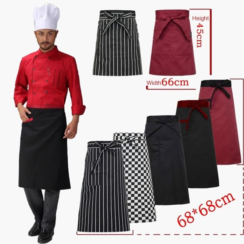 New Kitchen Aprons Half-length Long Waist Apron Catering Chefs Waiters Aprons