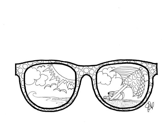 Sunglasses Coloring Page Coloring Pages Colouring Pages Mindfulness Colouring