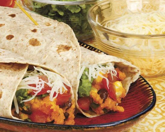 Spicy Sweet Potato Burritos - Would be great with Yukons