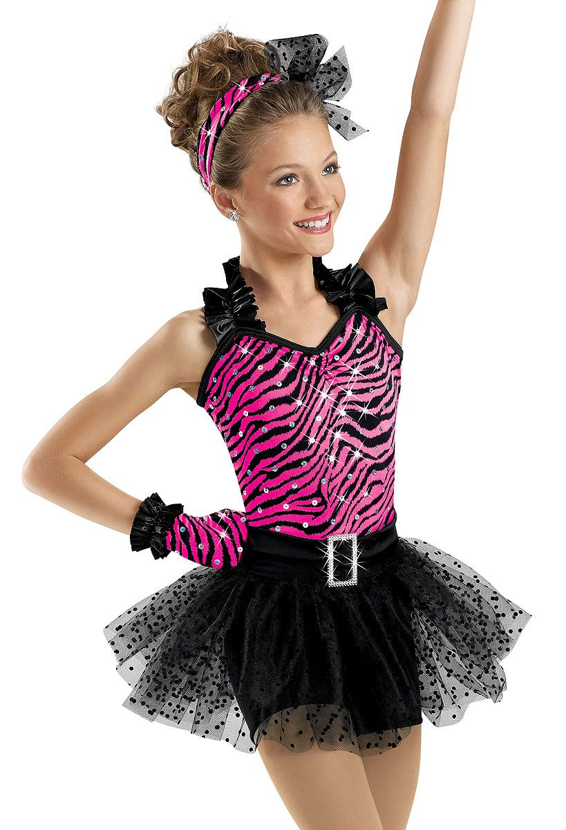 86e86f840 Zebra Bodice Unitard with Ruffle  Weissman Costume