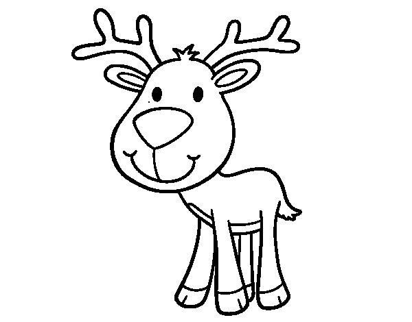 Dibujo de Ciervo bebé para colorear | SVG Files | Digital stamps ...