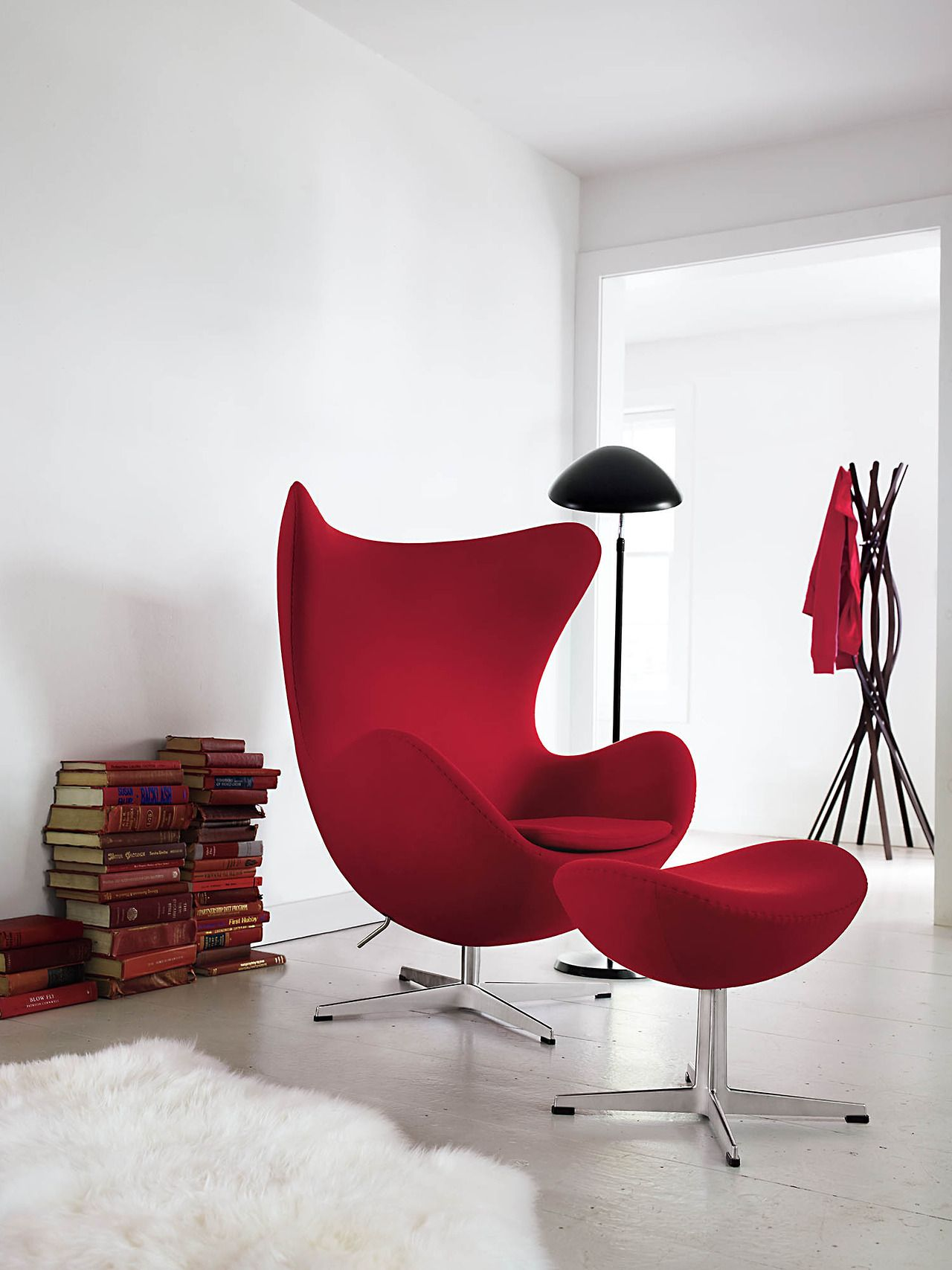 Classics designers arne jacobsen egg chair replica in cowhide - Egg Chair Designed By Arne Jacobsen For Republic Of Fritz Hansen Twist Coat Stand