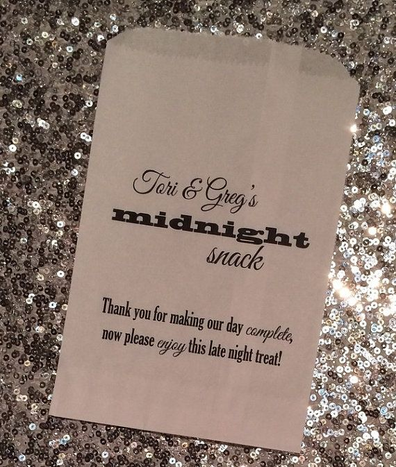Midnight Snack Favor Bag For Wedding Thank You For Making Our Day