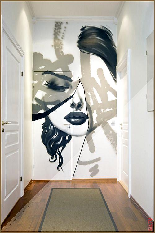 Une Entr E Quelconque Cachez La Porte Plane En Imaginant Sur L Ensemble Du Mur Porte Comprise Du Sol Au Plafond Un Immense Wall Painting Modern Wall Art Mural