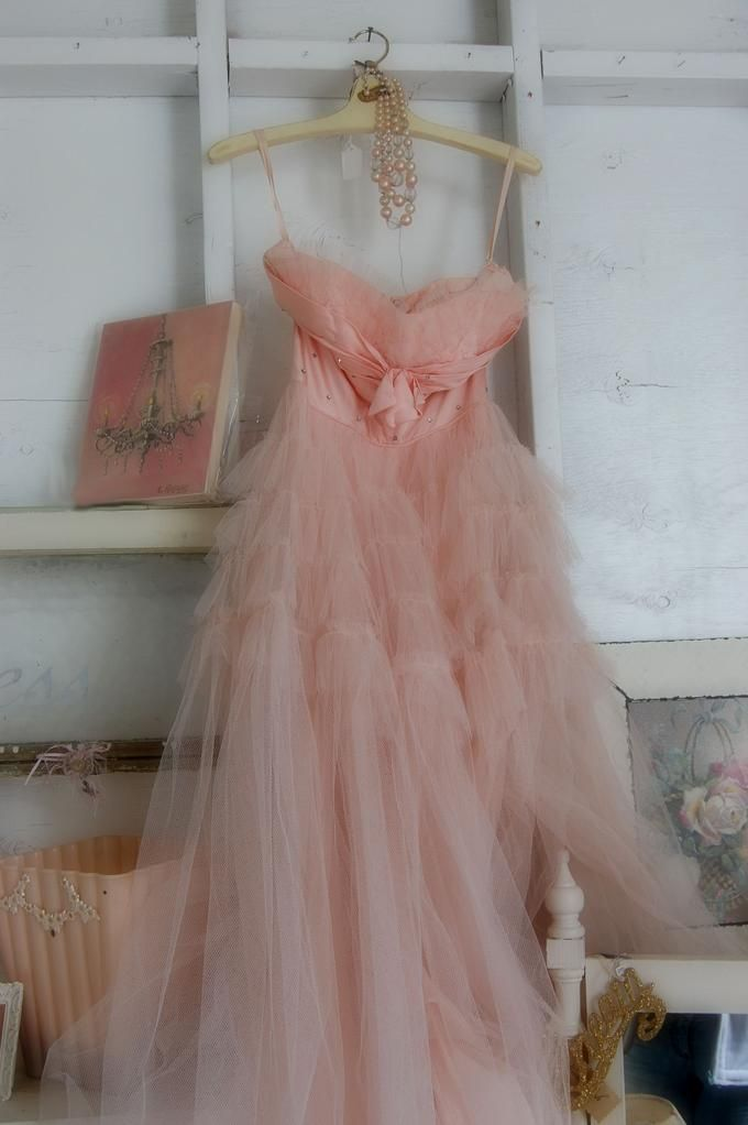 Pink Vintage Prom Dress | Dresses, Gowns, and What Have You | Pinterest