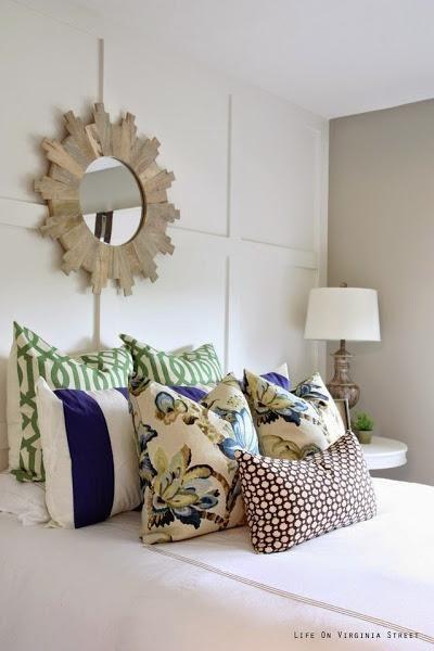 Un precioso dormitorio en gris, blanco y azul Decorar tu casa