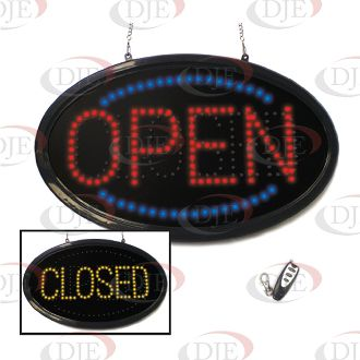 Oval OPEN & CLOSED Sign