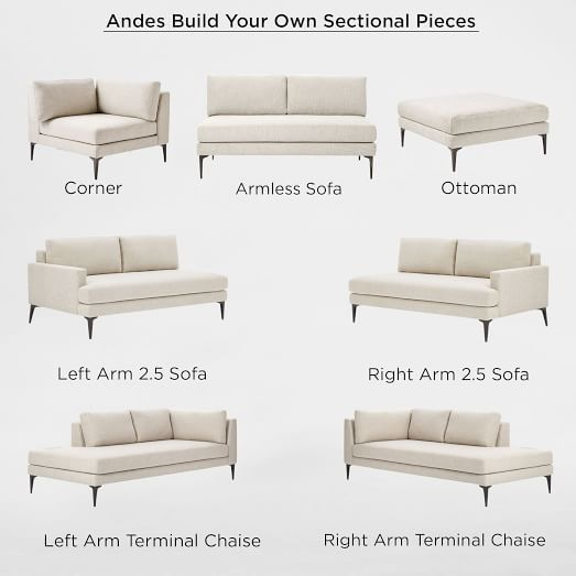 Modular Andes Sectional Corner Sofa Design Sofa Seat Cushions Upholstered Furniture