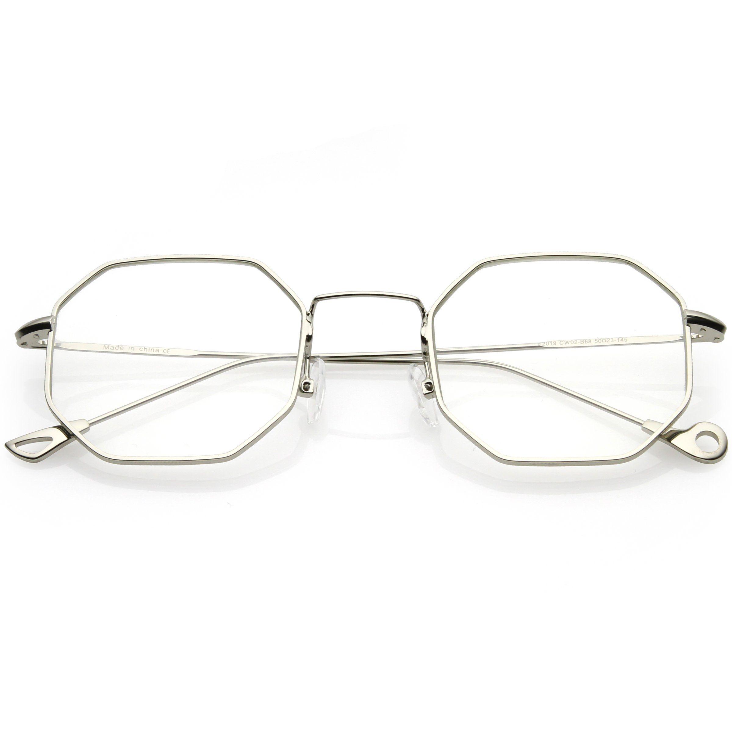 a11c7be3f2 Premium Retro Geometric Octagon Clear Lens Glasses C494