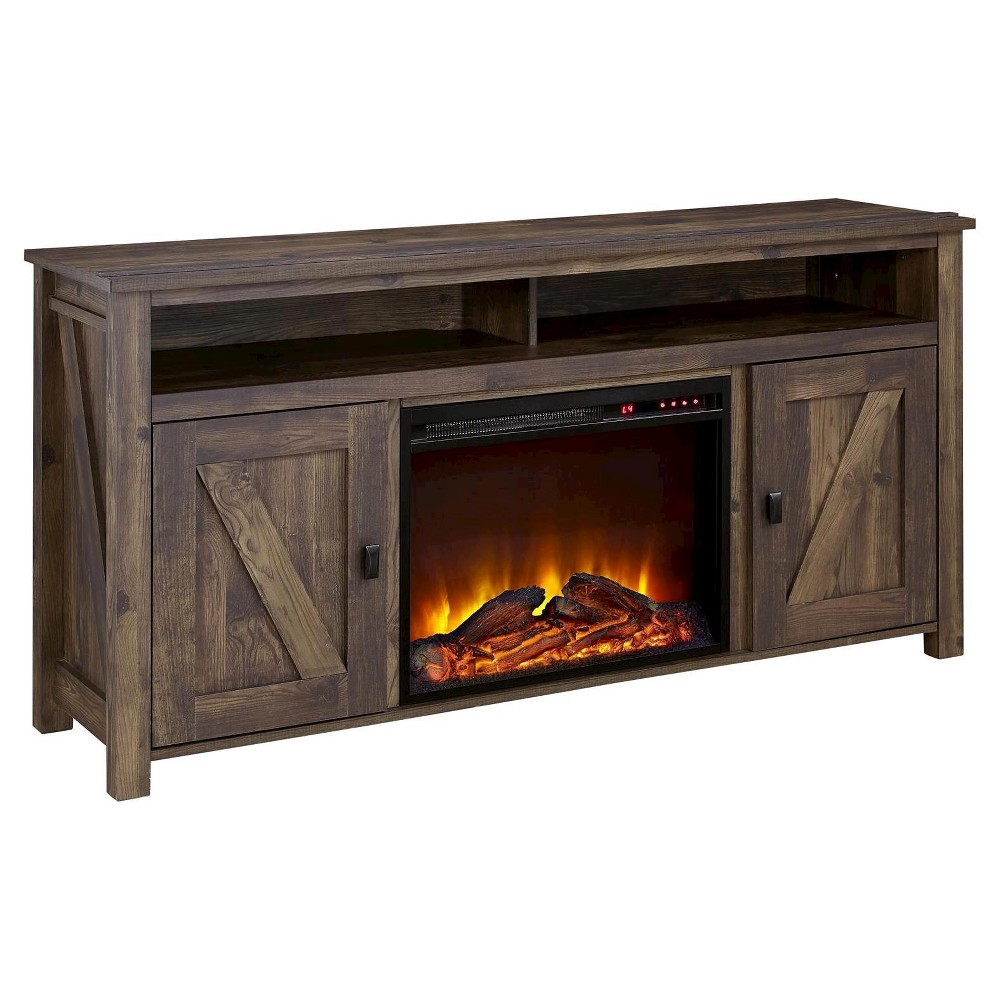 Brookside Electric Fireplace Tv Console For Tvs Up To 60 Dark