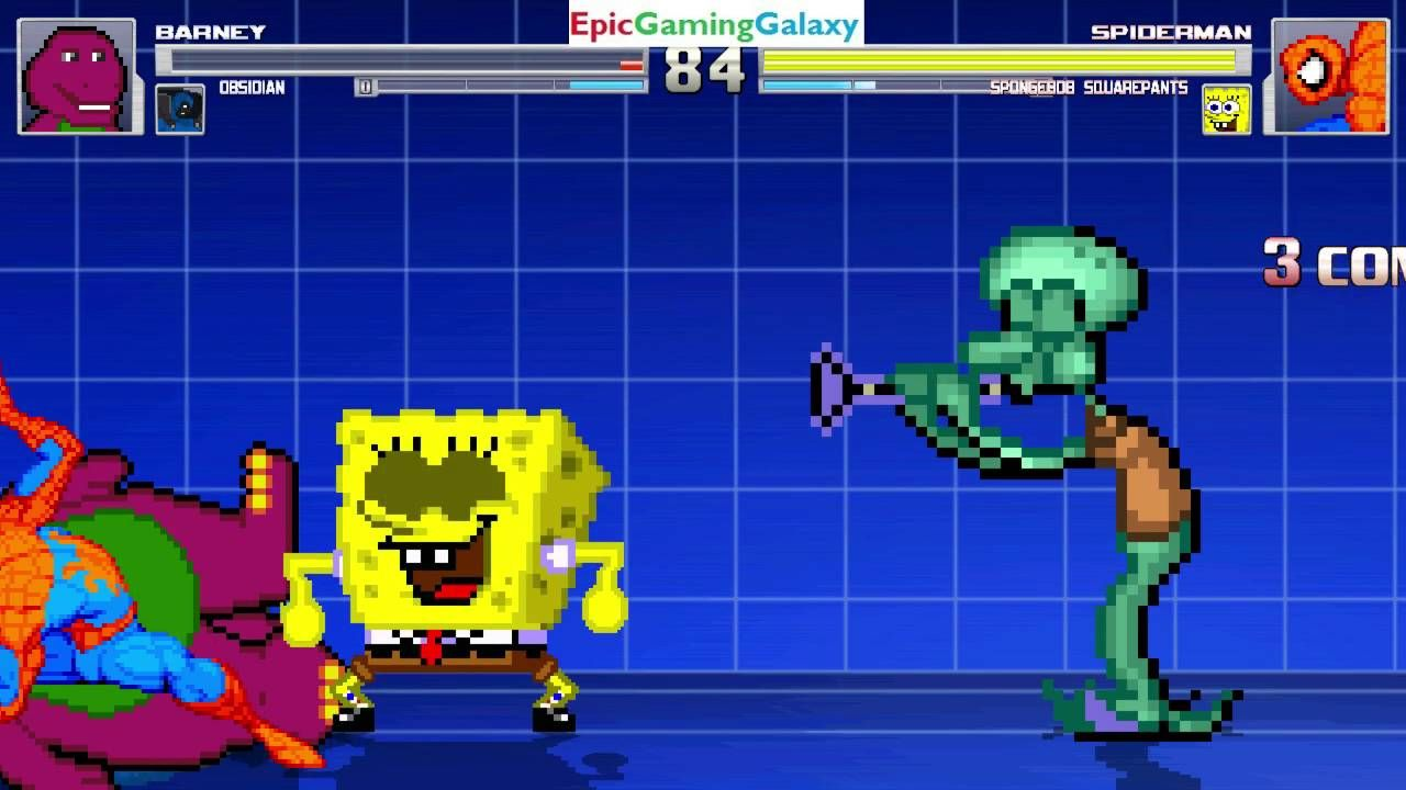 spider man u0026 spongebob squarepants vs barney the dinosaur