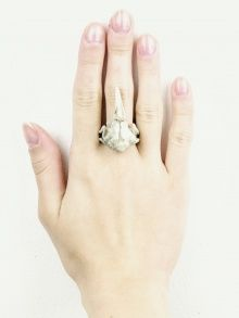 WHITE BIG RAVEN SKULL  | JEWELLERY/ RINGS |  MACABRE GADGETS | NOT JUST A LABEL