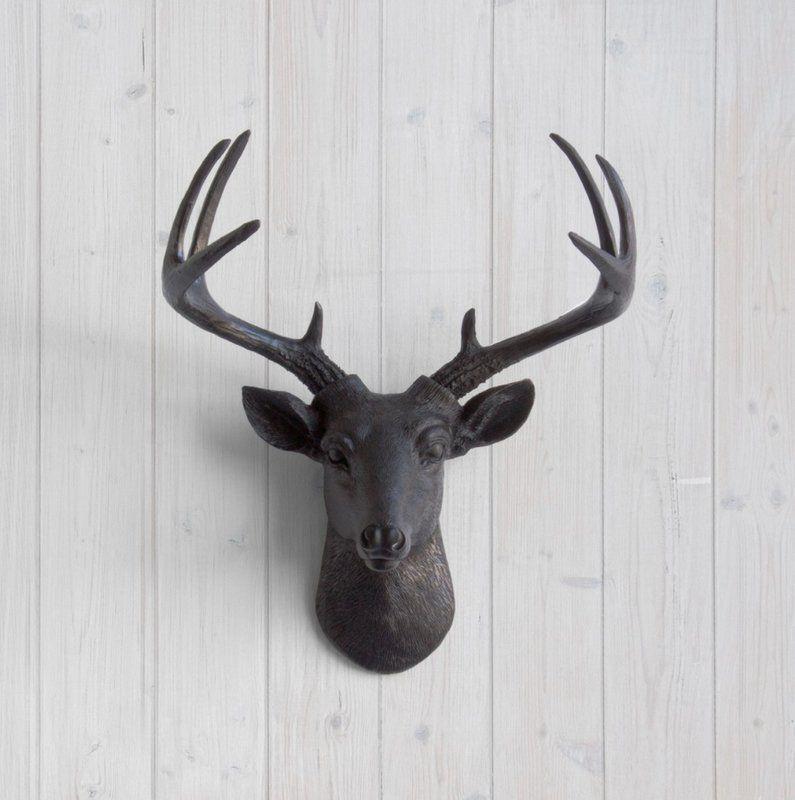 Semaj Faux Taxidermy Deer Head Wall Decor Deer Head Wall Decor Deer Heads Wall Deer Head Decor
