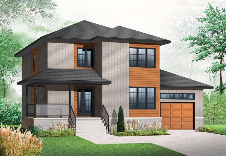 Modern Style House Plan 76324 With 3 Bed 3 Bath 1 Car Garage With Images Modern Style House Plans Modern Contemporary House Plans Affordable House Plans