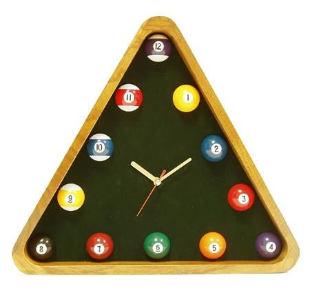 10 Coolest Clocks Billard Decoration Horloge