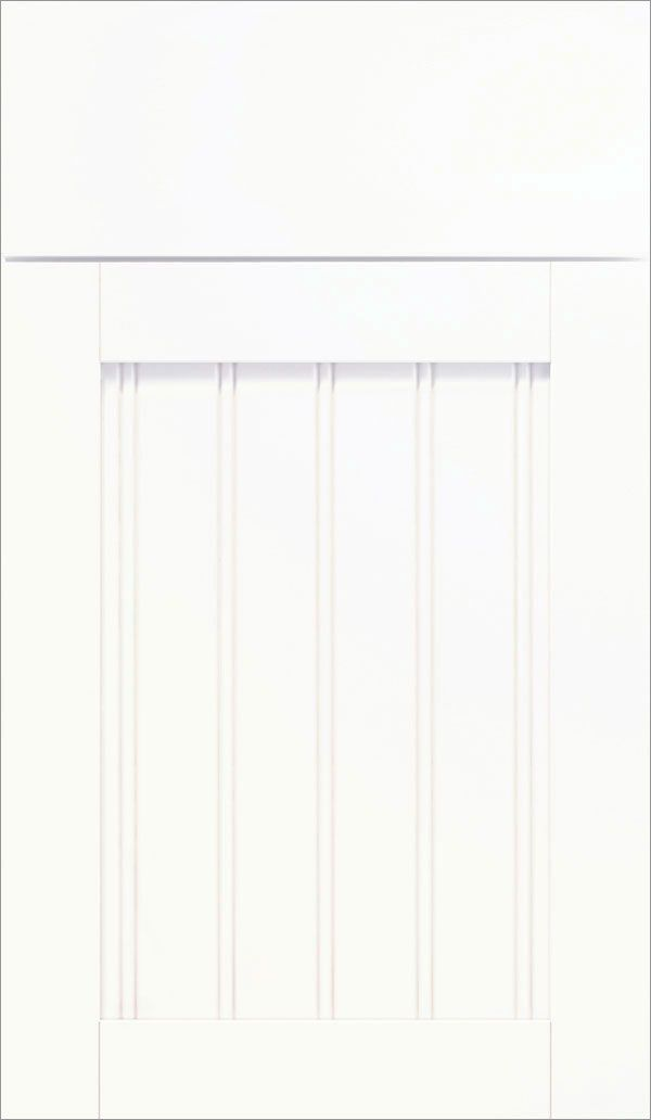 Ellsworth Beadboard Cabinet Doors Are Available In White Laminate